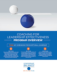 Leadership Assessment and Development Coaches Program Overview